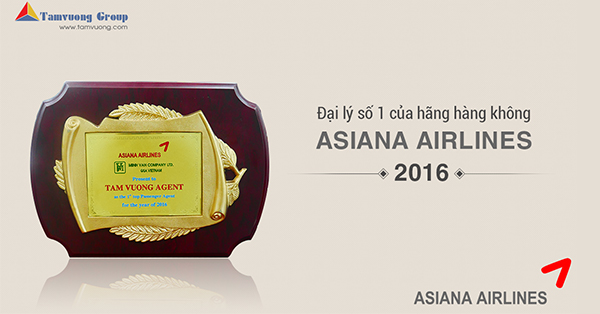 Bằng khen của Asiana Airlines